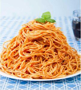 huge plate of pasta